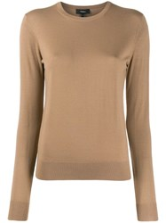 Theory Crew Neck Jumper Brown