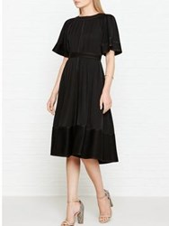 Joseph Cole Pleated Short Sleeve Dress Black
