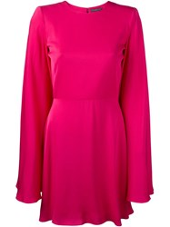 Alexander Mcqueen Cape Detail Mini Dress Pink And Purple