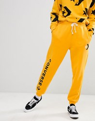 Converse Joggers With Leg Print In Yellow 10007056 A04