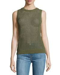 Current Elliott The Rope Stitch Tank Burnt Olive Military