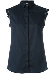 Fay Sleeveless Shirt Blue