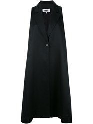 Maison Martin Margiela Mm6 Oversized Waistcoat Black