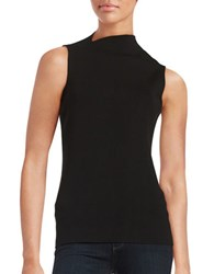 Lafayette 148 New York Sleeveless Blended Top Black