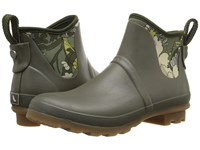 Sakroots Mano Olive Flower Power Women's Pull On Boots Brown