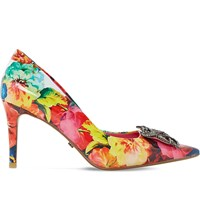 Dune Betti Floral Print Courts Multi Patent