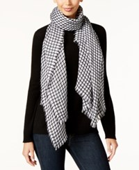 Inc International Concepts Contoured Houndstooth Scarf Only At Macy's Black White