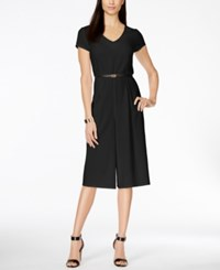 Ny Collection Belted Gaucho Jumpsuit