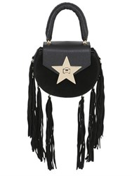 Salar Mimi Fringe Leather And Suede Bag