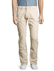 Tom Ford Regular Fit Ribbed Cotton Pants White