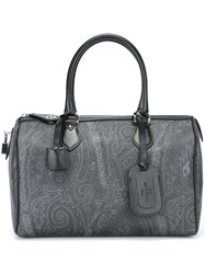 Etro Medium 'Aurora' Duffel Tote Grey