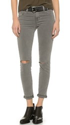 J Brand 811 Mid Rise Skinny Jeans Silver Fox