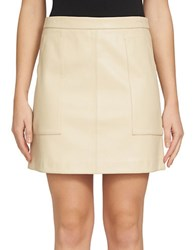 1.State Solid A Line Skirt Beige