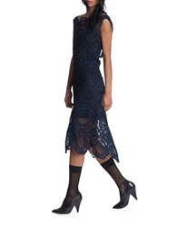 Tracy Reese Back Surplice Dress Blue