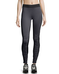 Xcvi Ruched Two Tone Leggings Charcoal Black