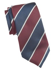 Vince Camuto Striped Silk Tie Red