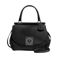 Coach Drifter Leather Satchel Black