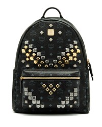 Mcm Stark M Stud Medium Backpack White