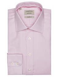 Chester Barrie By 100S Royal Oxford Tailored Shirt Pink