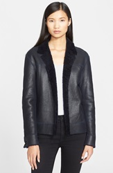 Helmut Lang Genuine Shearling Jacket Navy