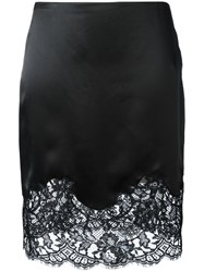 Givenchy Lace Panel Pencil Skirt Black