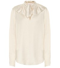 See By Chloe Satin Blouse Beige