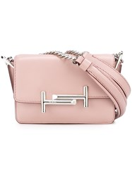 Tod's Chain Strap Shoulder Bag Pink And Purple
