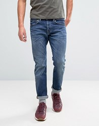 Edwin Ed 55 Regular Tapered Jean Contrast Clean Wash Contrast Clean Wash Blue