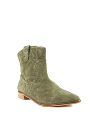 Shellys London Bowroad Casual Western Ankle Boots Green