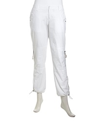Raison D'etre Stretch Knit Cargo Pants White