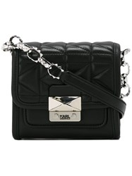 Karl Lagerfeld Quilted Cross Body Bag Black