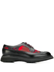 Doucal's Camouflage Detail Derby Shoes Black