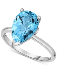 Victoria Townsend Blue Topaz 3 5 8 Ct. T.W. Ring In Sterling Silver