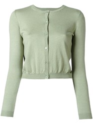 Red Valentino Cropped Cardigan Green