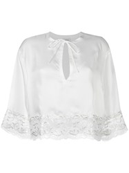 La Perla 'Secret Story' Pajama Top White
