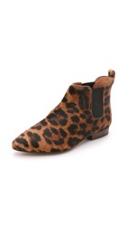 Madewell The Nico Haircalf Booties Leopard Tan Multi