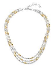 Gurhan 24Kt Gold Vermeil And Sterling Silver Wheat Necklace Silver Gold
