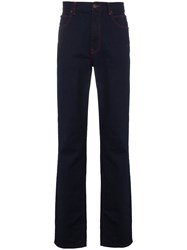 Calvin Klein 205W39nyc Indigo And Red Contrast Stitch Jeans Blue