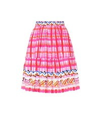Peter Pilotto Printed Cotton Skirt Pink