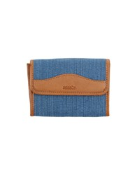 Sessun Small Leather Goods Wallets Blue