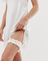 Ted Baker B By Embroidered Bridal Detail Garter In Ivory White