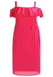 New Look Curves Summer Dress Bright Pink