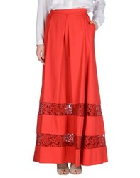 Philosophy Di Alberta Ferretti Skirts Long Skirts Women Red