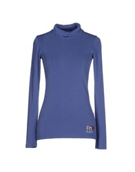 Fred Mello Topwear T Shirts Women Dark Blue