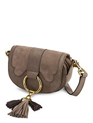 Frye Ilana Suede Mini Crossbody Bag Grey Multi