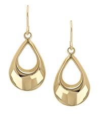 Lord And Taylor 14K Yellow Gold Drop Earrings