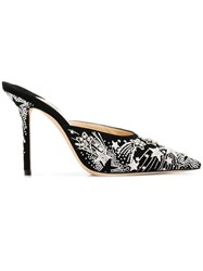 Jimmy Choo Faux Crystal Embellished Mules Black