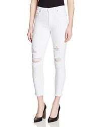 Nobody Cult Skinny Destructed Ankle Jeans In Essence