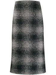 Antonelli Check Print Pencil Skirt 60