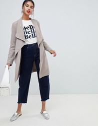 Only Spring Wrap Coat Taupe Grey Stone
